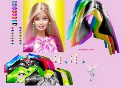 Barbie che si colora i capelli
