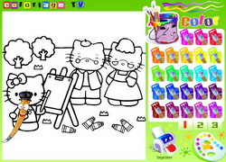 disegni da colorare di hello kitty on line