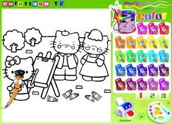 giochi disegni da colorare hello kitty