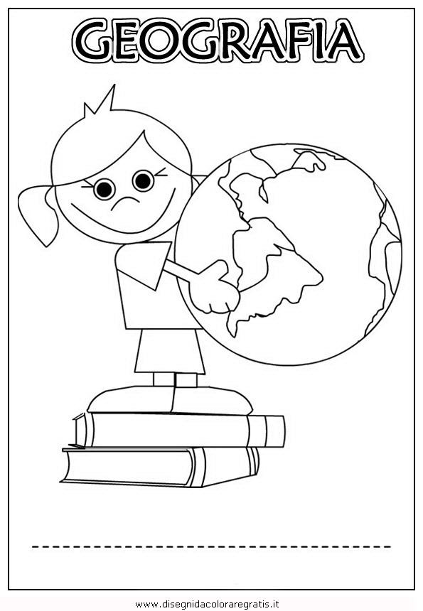 Conosciuto Disegno copertina-quaderno-geografia categoria alfabeto da colorare JM95