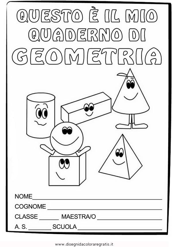 spesso Disegno copertina-quaderno-geometria categoria alfabeto da colorare FL66