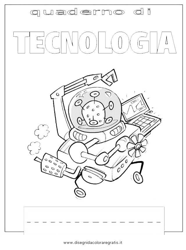 Disegno Copertina Tecnologia Categoria Alfabeto Da Colorare