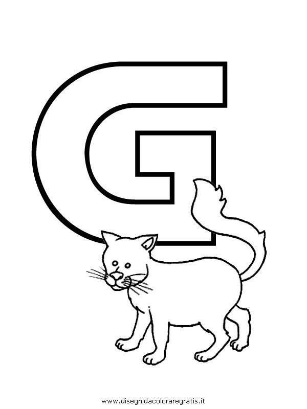 Disegno alfabeto gatto categoria alfabeto da colorare - Lettere animali da stampare ...