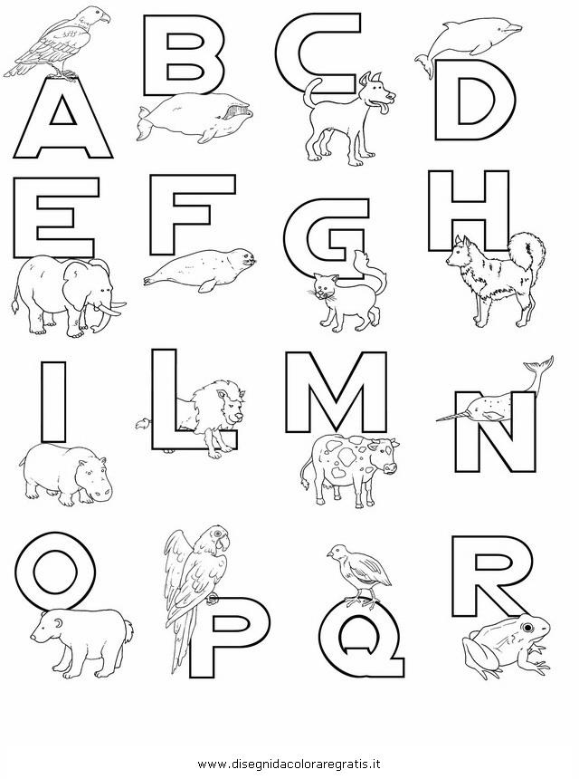 Disegno alfabeto zu piccolo a categoria da colorare
