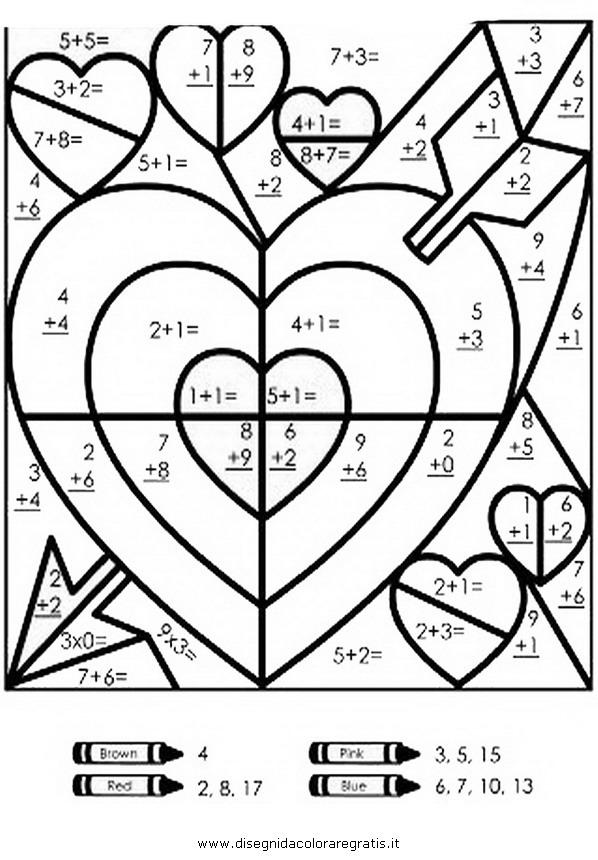 disegno addizioni 41 categoria alfabeto da colorare