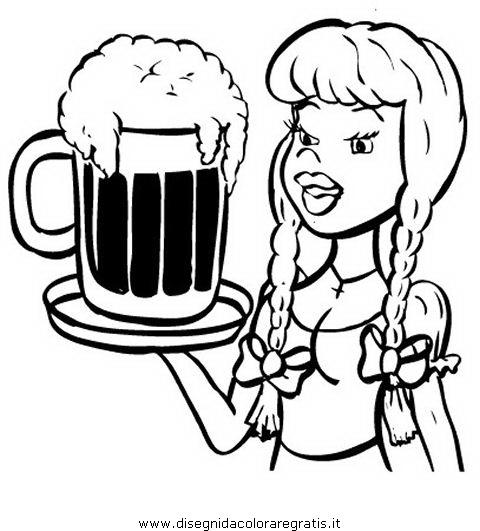 Amato Disegno birra_02 alimenti da colorare UX41