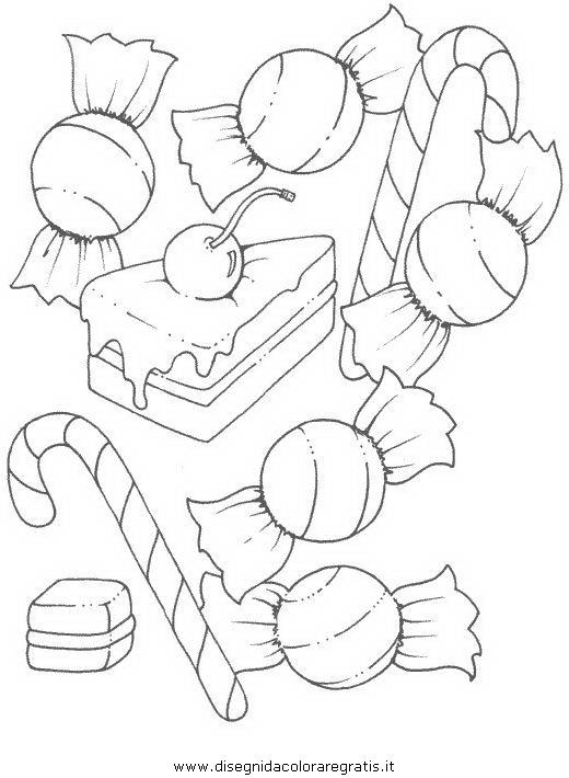 Disegno Caramella Caramelle 01 Alimenti Da Colorare