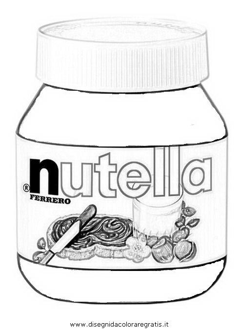 Disegno nutella alimenti da colorare for Disegno vaso da colorare