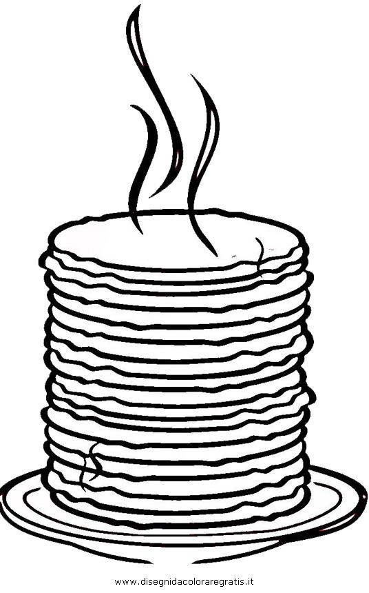 Disegno Pancake 2 Alimenti Da Colorare