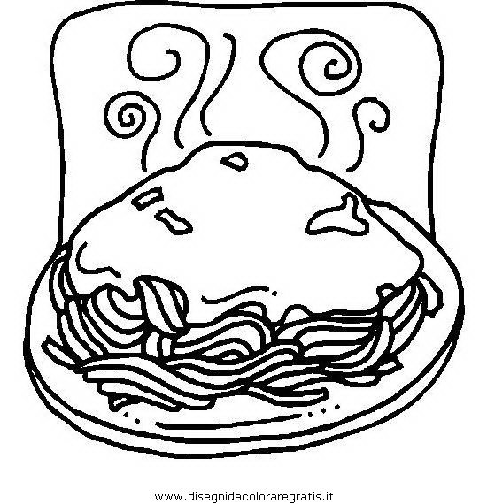 Disegno Pastapastasciuttaspaghetti01 Alimenti Da Colorare