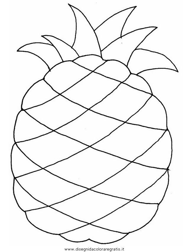 Disegno Ananas Alimenti Da Colorare