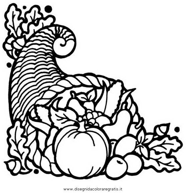 Disegno cornucopia 4 alimenti da colorare for Disegni da colorare ciliegie