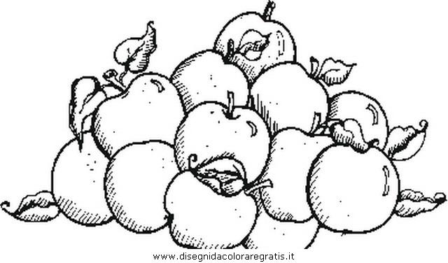 Disegno mela mele1 alimenti da colorare - Immagini stampabili di mele ...