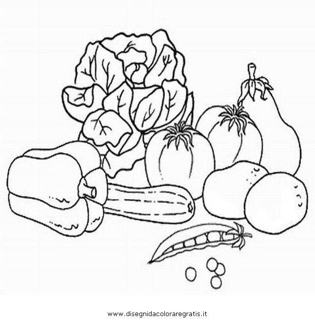 Disegno verdure alimenti da colorare for Salvia da colorare