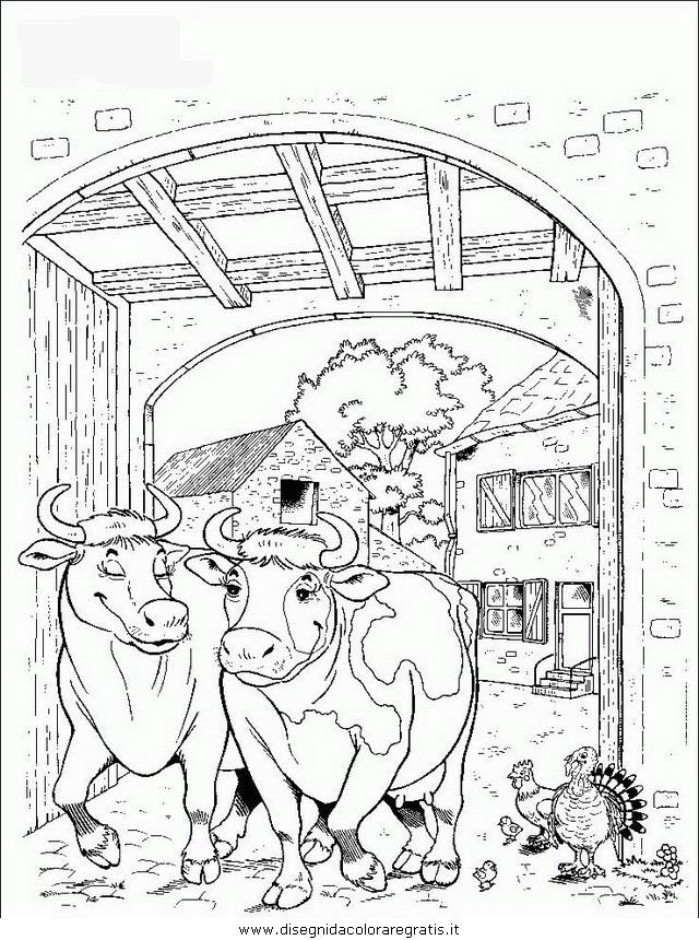 Disegno mucche animali da colorare for Disegno della fattoria americana
