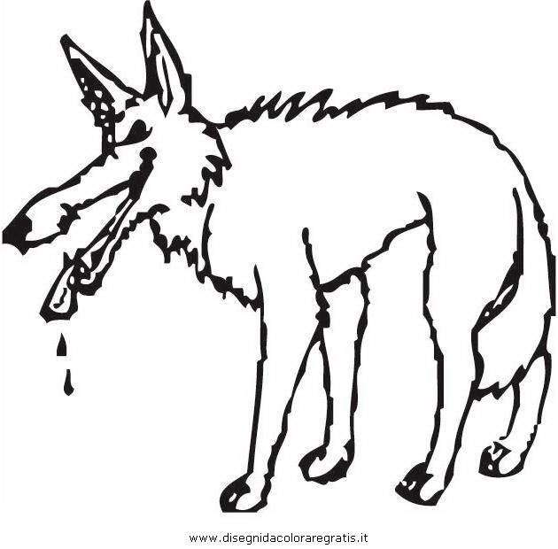 Disegno lupo 02 animali da colorare for Disegni di lupi facili