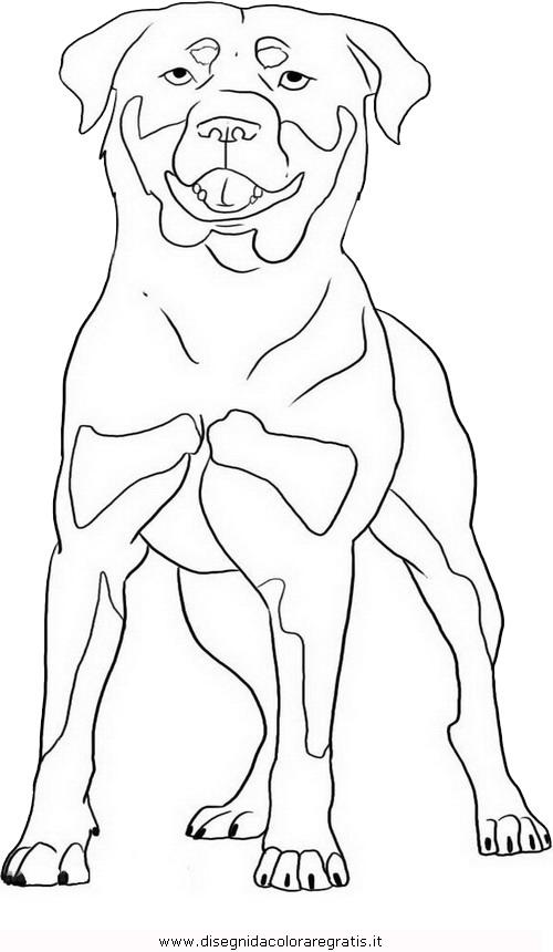 Disegno rottweiler 1 animali da colorare - Cane da colorare le pagine libero ...