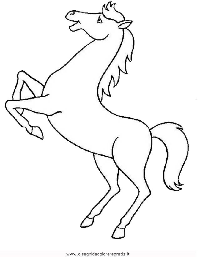 Disegno cavallo 112 animali da colorare for Immagini di cavalli da colorare