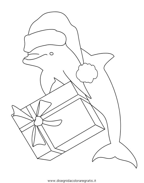 Disegno delfino delfini08 animali da colorare for Delfino disegno da colorare