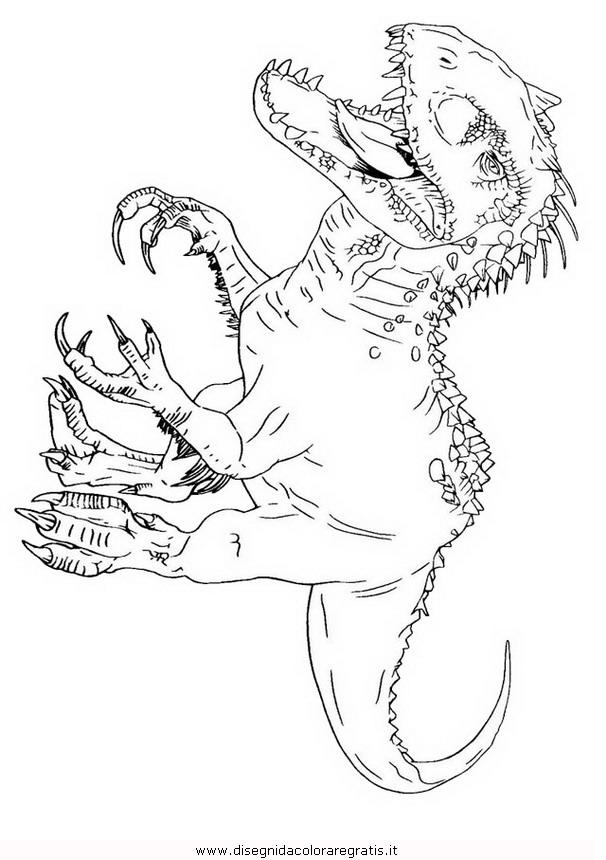 Disegno Indominusrexjurassicworld 2 Animali Da Colorare