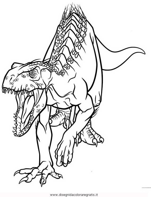 Disegni Da Colorare Gratis Dinosauri.Disegno Indoraptor 1 Animali Da Colorare