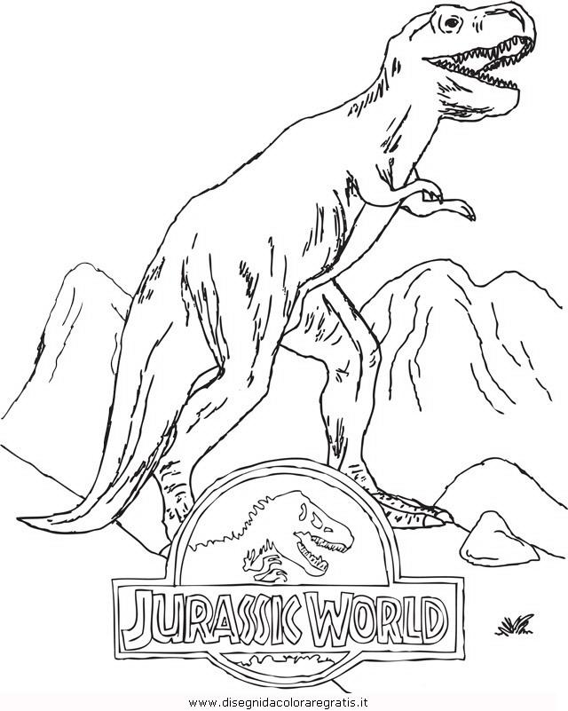 Disegno Jurassic World 9 Animali Da Colorare