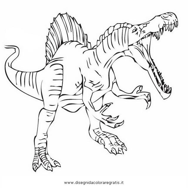 Disegno spinosauro 02 animali da colorare for Disegni da colorare dinosauri