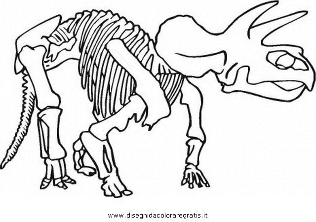 Disegno z dinosauro scheletro 6 animali da colorare for Disegni da colorare dinosauri