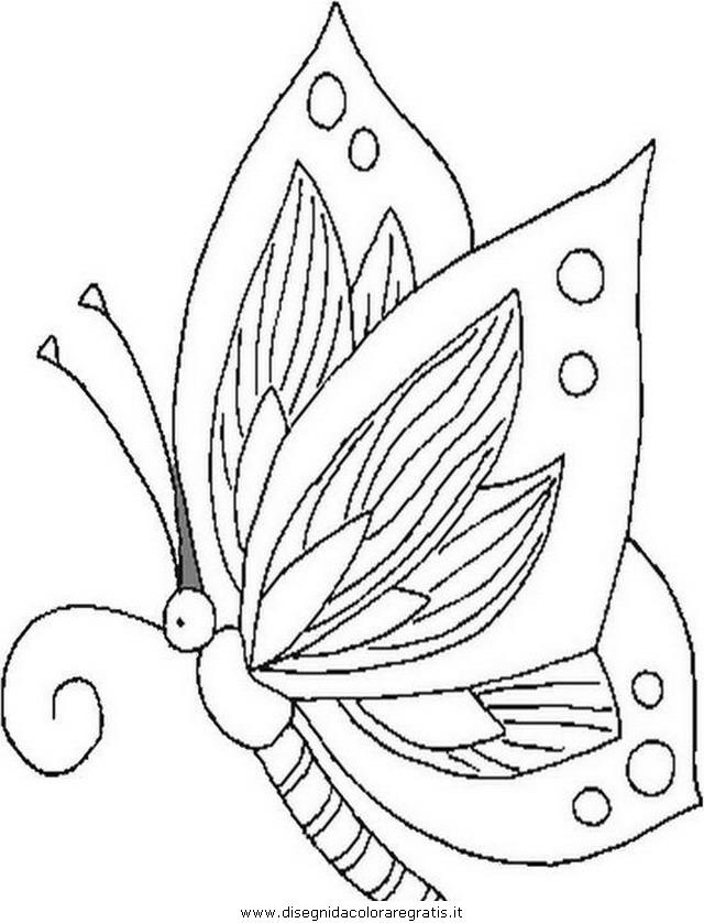 Disegno butterfly farfalle animali da colorare - Immagini di farfalle a colori ...