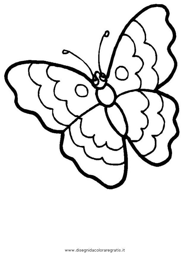 Disegno Farfalla 06 Animali Da Colorare