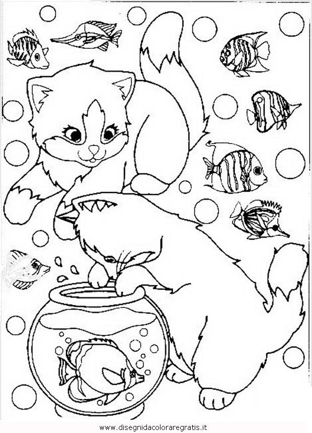 Disegno gatto animali da colorare