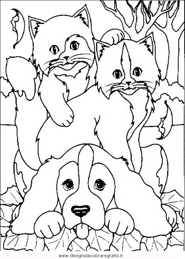 dog cats coloring pages - photo#40