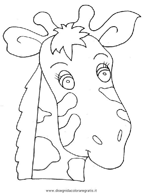 Disegno giraffa animali da colorare