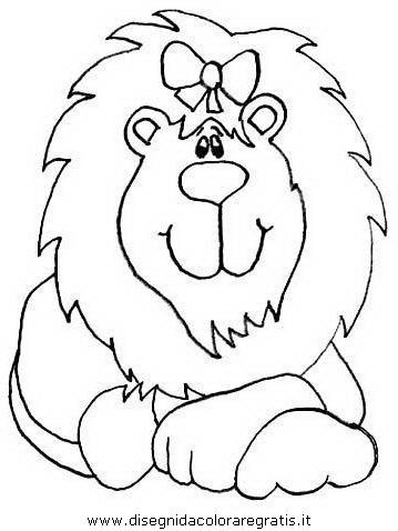 Disegni Da Colorare Di Animali Onnivori.Disegno Leone 22 Animali Da Colorare
