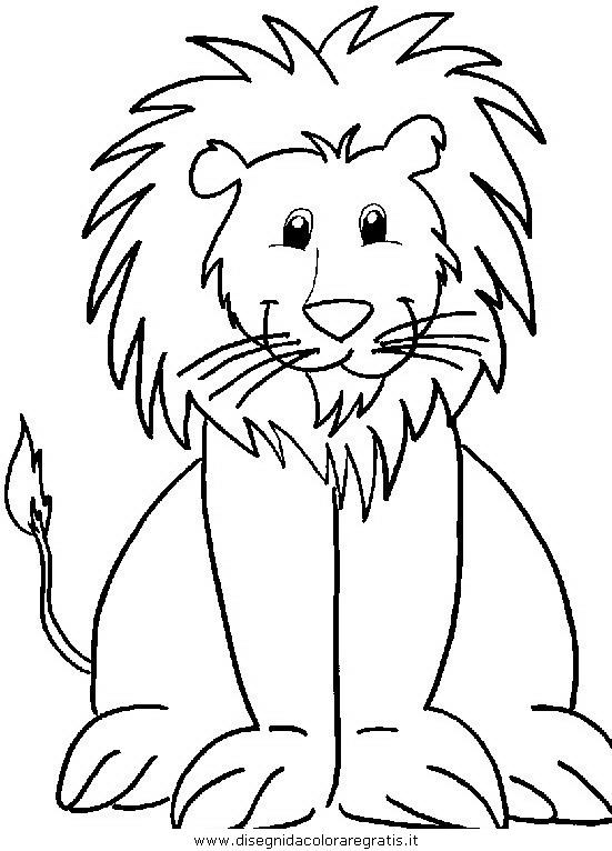 Disegno leone 40 animali da colorare for Immagini di animali marini da stampare