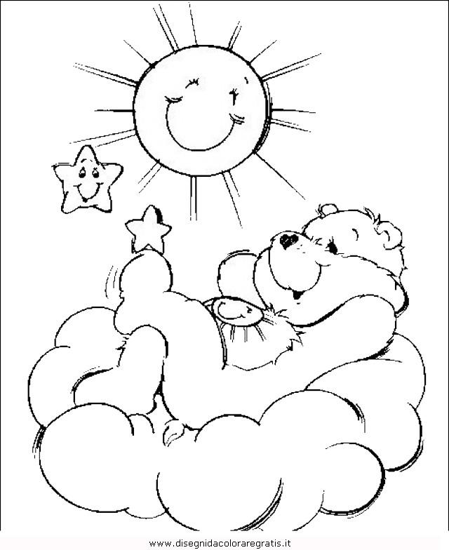 Disegno orso 051 animali da colorare - Orsacchiotto da colorare in ...