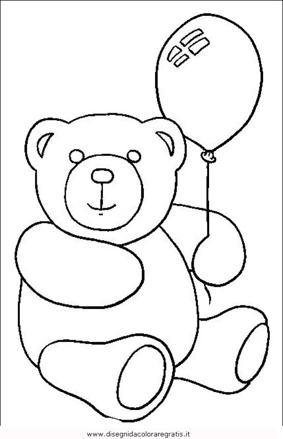 Disegno orso 064 animali da colorare - Immagini di orsi da colorare in ...