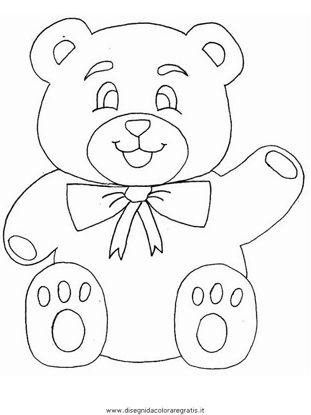 Disegno orso 107 animali da colorare - Orsi polari pagine da colorare ...