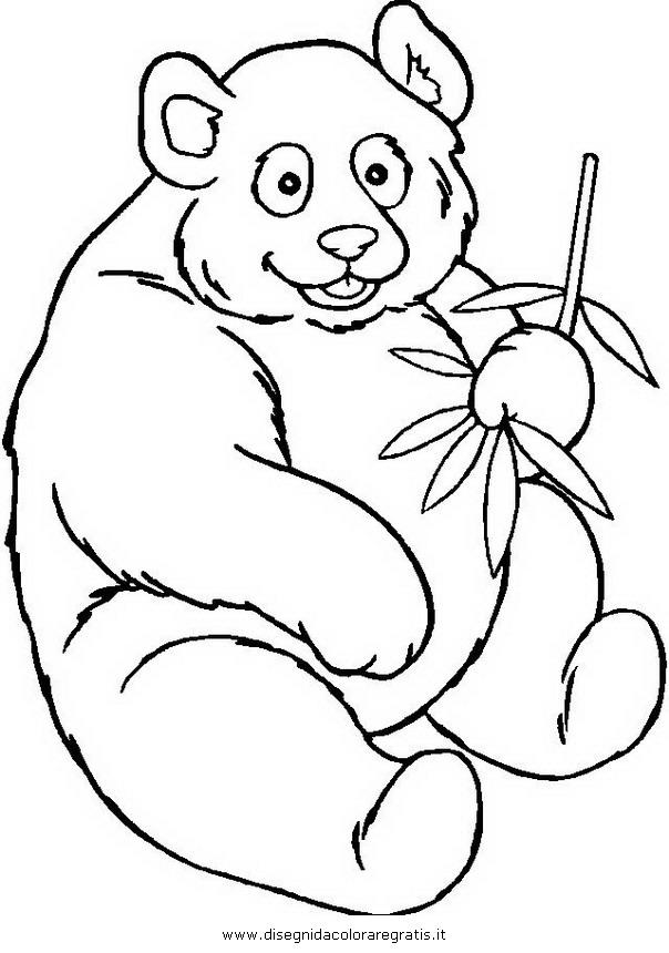 Disegno panda 34 animali da colorare - Immagini di orsi da colorare in ...