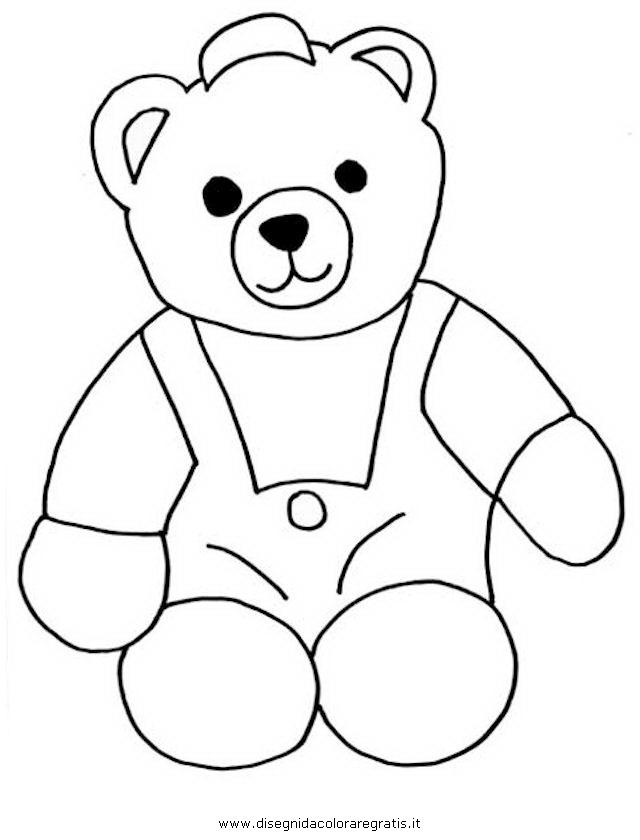 Kleurplaat Eendjes In Het Water Disegno Teddy Bear 08 Animali Da Colorare