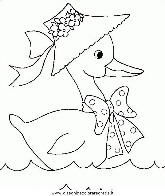 Disegno anatra papera 19 animali da colorare - Image canard a imprimer ...