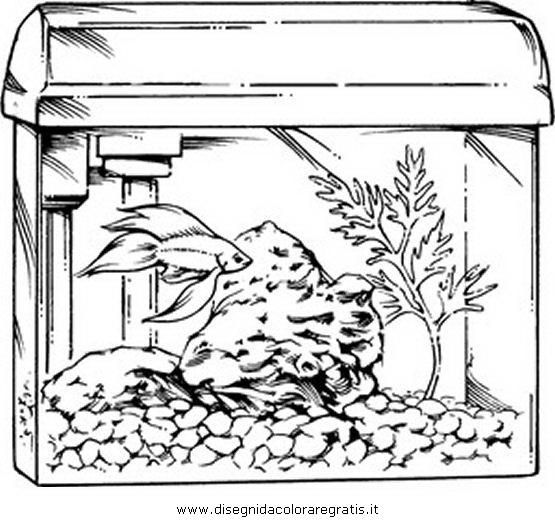 Disegno aquarium acquario 03 animali da colorare for Immagini di pesci da disegnare