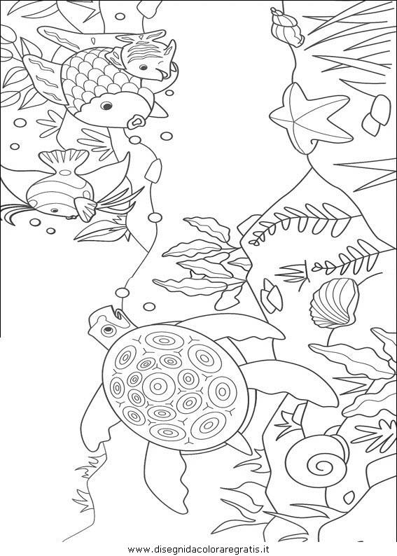Disegno pesce pesci 025 animali da colorare for Disegni pesciolino arcobaleno