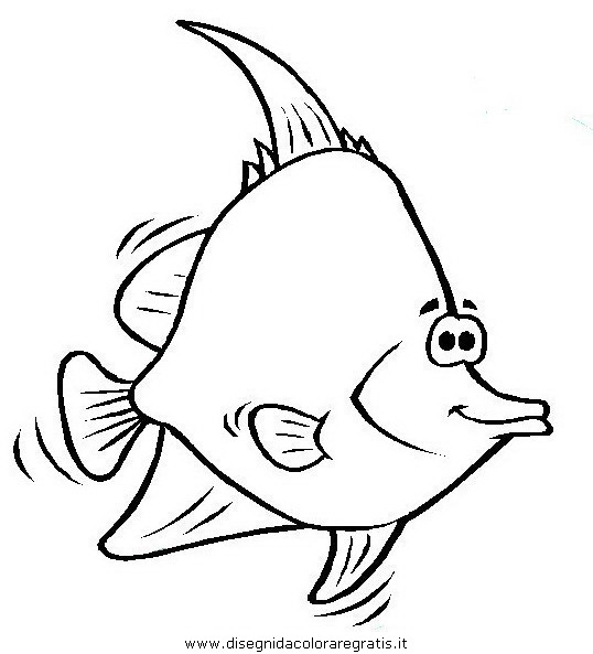 Disegno pesce pesci 059 animali da colorare for Trota da colorare