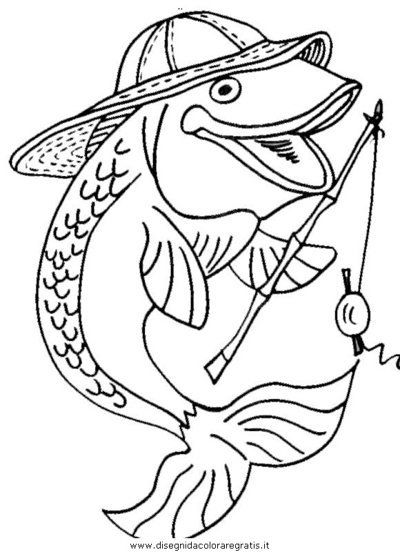 Disegno pesce pesci 121 animali da colorare for Trota da colorare