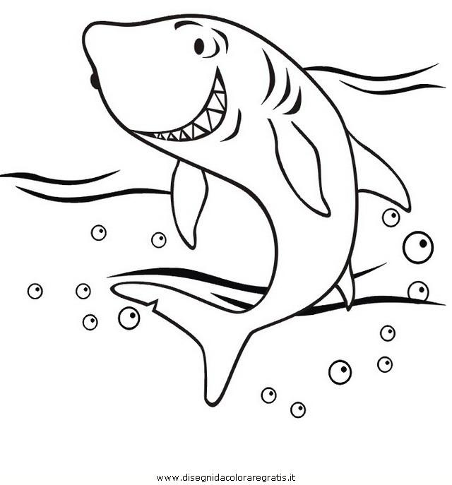 Disegno squalo squali 48 animali da colorare for Disegno squalo