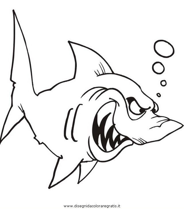 Disegno squalo squali animali da colorare