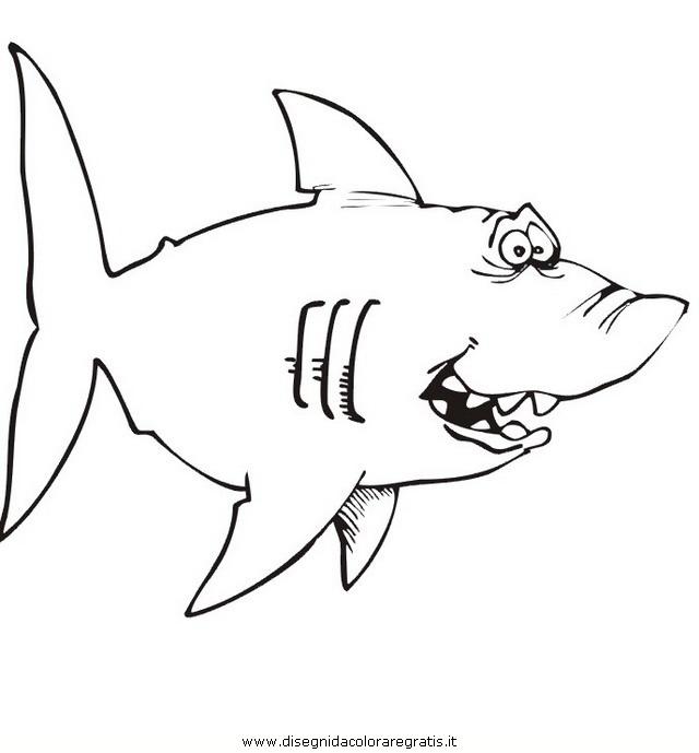 Disegno squalo squali 52 animali da colorare for Squalo bianco da colorare