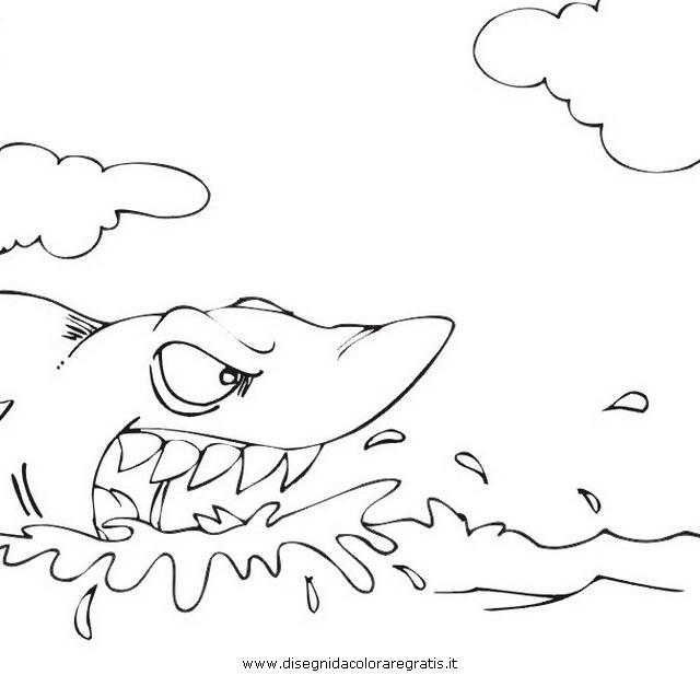 Disegno squalo squali 58 animali da colorare for Disegno squalo