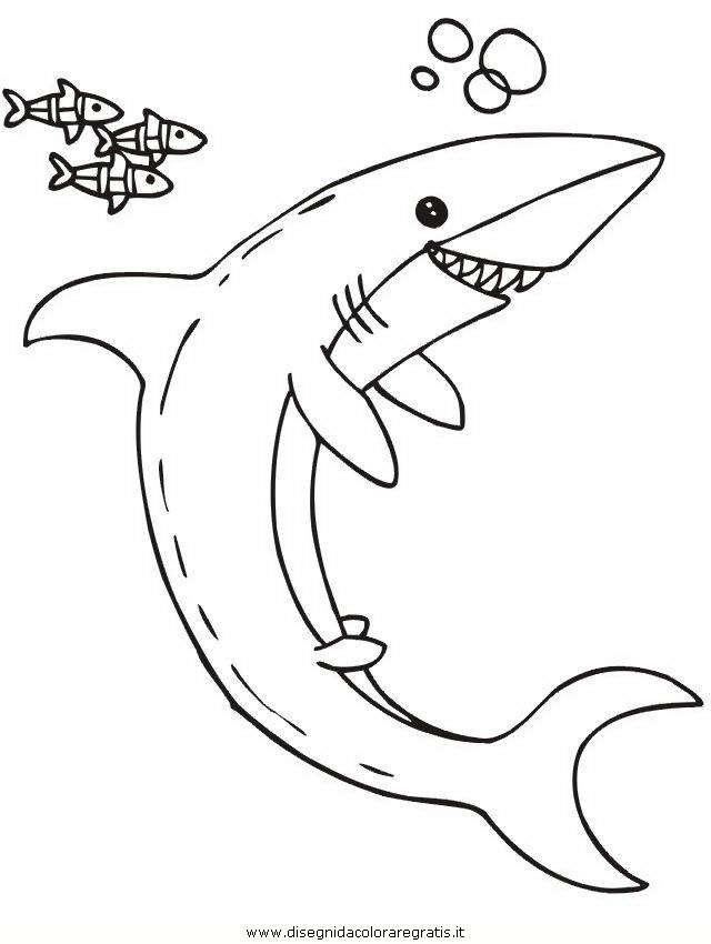 Disegno squalo squali 60 animali da colorare for Disegno squalo